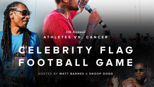 Athletes Vs. Cancer Celebrity Flag Football Game flyer